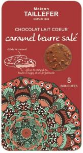 Bouchées chocolat au lait cœur caramel beurre salé - Maison Taillefer - 75 gr - x8