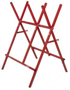 Chevalet de sciage pliable - Oregon - rouge - charge max 80 kg