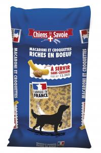 Pâtes Macaroni et croquettes riches en bœuf - Chiens de Savoie - 12,5 kg