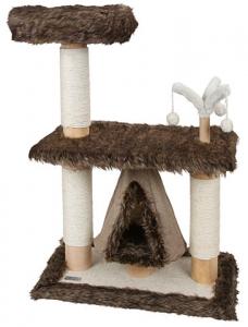Arbre à chat zamunda - Kerbl - Pour chats - Brun - base 71x41x3cm, hauteur 104cm