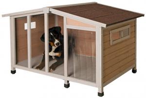 Niche pour chien - Overview - 134 x 92 x 82 cm - Avec plexiglas