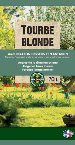 Tourbe blonde BIOLANDES PIN DECOR - 70 L