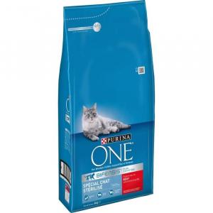 Croquette spécial chat stérilisé - Purina One - boeuf - 6 kg