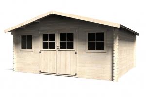 Abri de jardin en bois - 34 mm - Prêt àtraiter - Avelin - 20,25 m² - 4,78 x 4,78 m