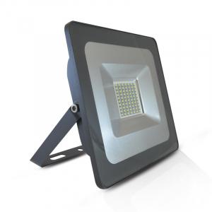 Projecteur extérieur LED plat - 50 W - 4400 lumens - Gris