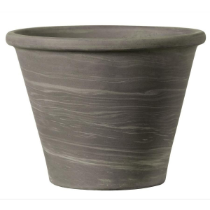 Vaso duo - Deroma - grafite - Ø 17 cm - H 12,6 cm