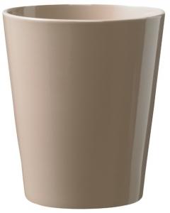 Cache pot en céramique - Horticash - taupe - Ø 12,5 cm