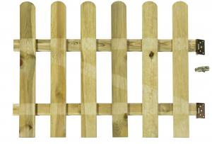 Portillon planche striée Stacket en pin OLG - 100 x 80 cm
