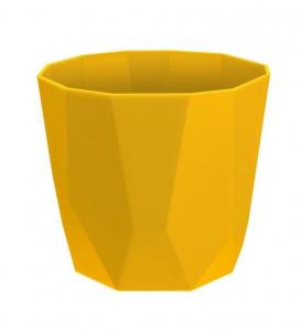 Cache-pot B.for Rock Rond - Elho - Ocre - 18 cm