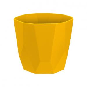 Cache-pot B.for Rock Rond - Elho - Ocre - 14 cm