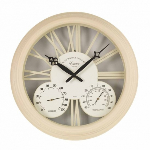 Horloge & thermomètre Exeter - Smart Garden Products - Blanc - 38 cm