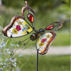 Papillon brillant - Smart Garden Products - Rouge - 74 cm