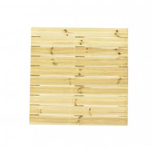 Dalle rainurée en pin OLG - 100 x 100 cm