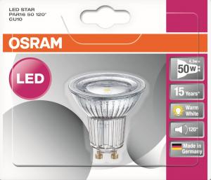 Spot LED - Osram - 4.3 W - GU10 - Finition Full glass