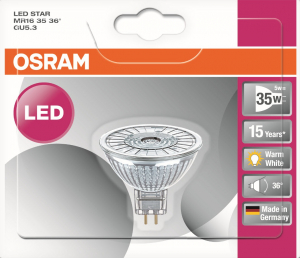 Ampoule LED de forme dichroïque - Osram - 4.6 W - GU5.3 - Finition Full glass