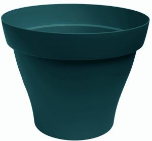 Pot rond Roméo - 30 cm - Bleu pétrole