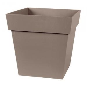 Pot carré Toscane - 32 x 32 x 32 cm - Taupe