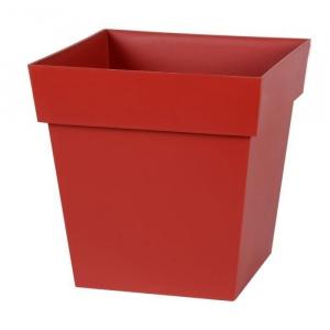Pot carré Toscane - 32 x 32 x 32 cm - Rouge