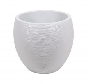 Pot ovale Egg Graphit - 50 x 50 x 45 cm - Blanc