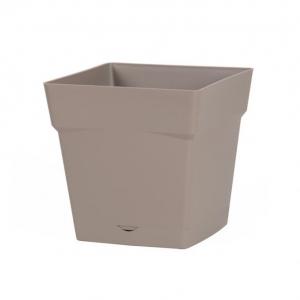 Pot carré Toscane - 24 x 24 x 24 cm - Taupe
