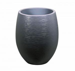 Pot ovale Egg Graphit - Ø 50 x 60 cm - Anthracite