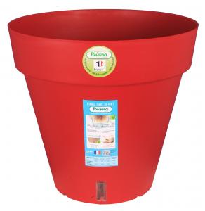 Pot de fleurs Loft rond - Riviera System - Rouge - Ø 24.5 x 22.5 cm