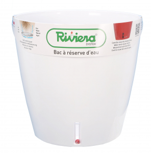Pot de fleurs Eva New rond - Riviera System - Blanc - Ø 35 x 33 cm