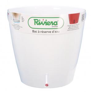 Pot de fleurs Eva New rond - Riviera System - Blanc - Ø 45 x 45 cm