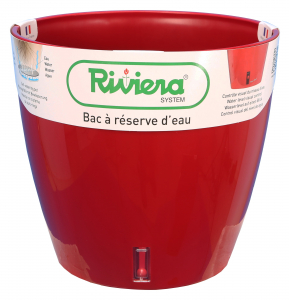 Pot de fleurs Eva New rond - Riviera System - Rouge - Ø 45 x 45 cm