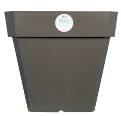 Pot de fleurs Soleilla carré - Riviera System - Gris - 29.5 x 29.5 x 26.5 cm