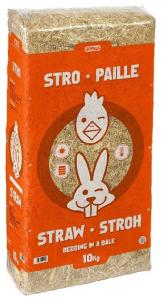 Paille de blé dépoussiérée - Stro Paille - Bedding Pet - 10 kg