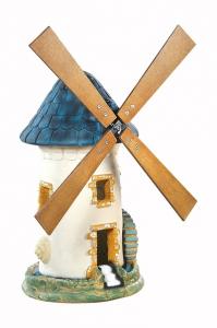 Moulin à roue ardoise Hairie Grandon - Hauteur 68 cm.
