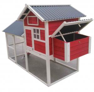 Poulailler boisen kiten sapin imputrescible avec toit en PVC haute résistance