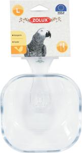 Mangeoire transparente pour perroquet Taille L - Zolux