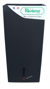 Pot de fleurs Eva New carré haut - Riviera System - Noir - 28 x 28 x 52 cm