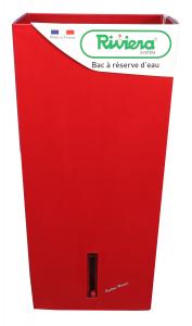 Pot de fleurs Eva New carré haut - Riviera System - Rouge - 28 x 28 x 52 cm