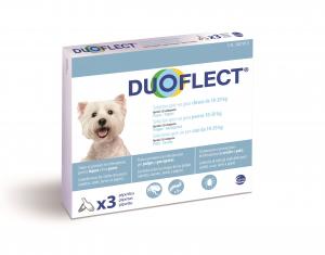 Duoflect x 3 pour chien de 10 à 20 kg - Traitement contre les puces et les tiques