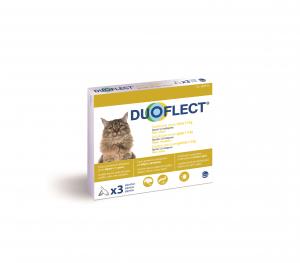 Duoflect x 3 pour chat de 1 à 5 kg -  Traitement contre les puces et les tiques