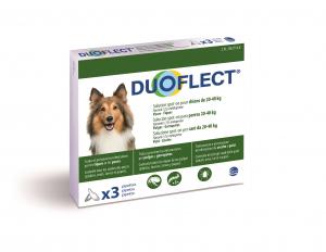 Duoflect x 3 pour chien de 20 à 40 kg - Traitement contre les puces et les tiques