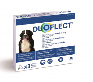 Duoflect x 3 pour chien de 40 à 60 kg - Traitement contre les puces et les tiques