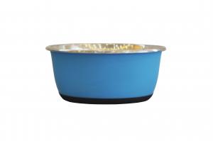 Bol antidérapant - En inox - Ø 16 cm - 950 ml - Bleu mat