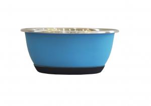 Bol antidérapant - En inox - Ø 13.5 cm - 500 ml - Bleu mat