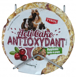 Friandise Cranberry pour lapins et rongeurs - Acti Cake Antioxydant - Tyrol - 100 g