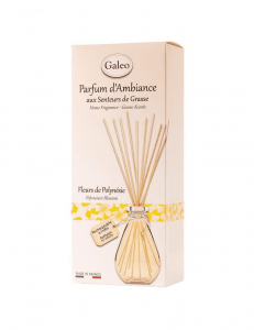 Diffuseur rotin rechargeable - Galéo - Fleur de Polynésie - 100 ml