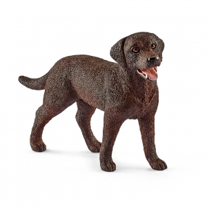 Figurine Labrador Retriever femelle - Schleich - Marron - 7.4 x 2 x 5 cm