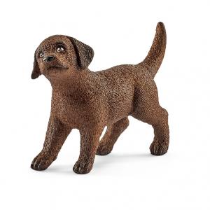 Figurine Chiot Labrador Retriever - Schleich - Marron - 4.9 x 1.6 x 3.4 cm
