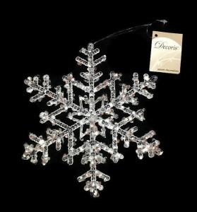 Flocon de neige - A suspendre - Transparent - Ø 18 cm