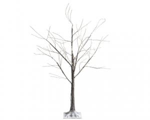 Arbre bouleau - LED - Marron/blanc chaud - Fil cuivre - 1 m
