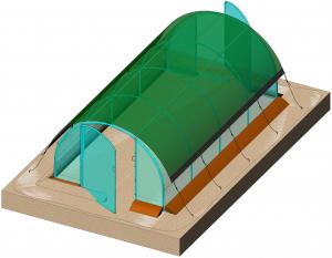 Voile d'ombrage pour serre - Richel - 4x 3 m