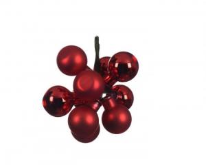 Grappe de boules - Rouge - Verre - Ø20 c m